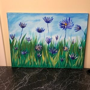 Wildflowers canvas painting